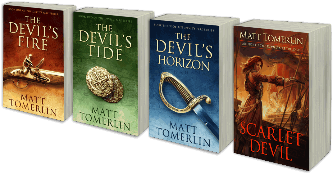 Matt Tomerlin's Pirate Novels - Paperback and Kindle eBooks
